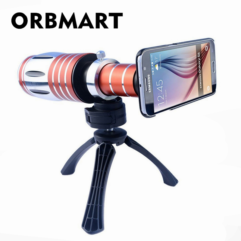 ORBMART 20X Optical Zoom Lens Camera Telescope With Tripod And Back Cover For Samsung S6 Edge S6 S5 S4 I9500 I9508 Note 5 4 3