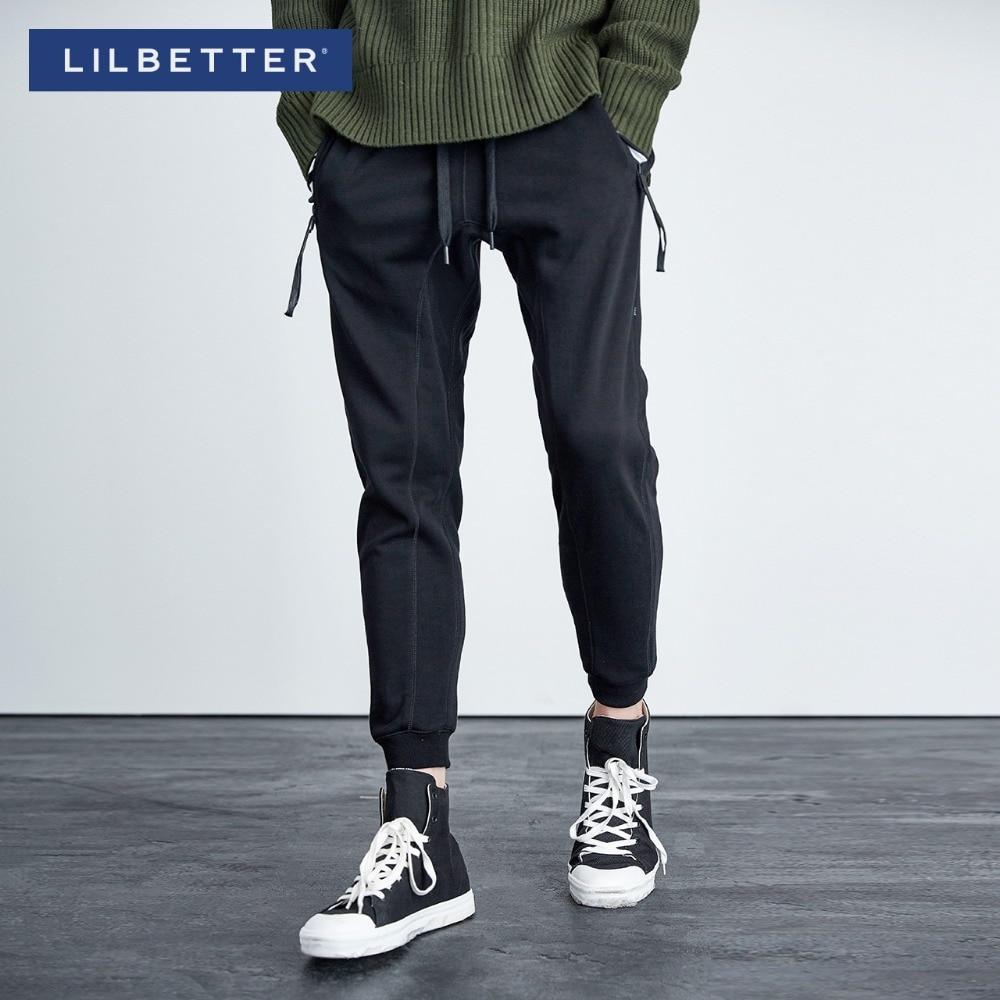 Lilbetter Black Pantaloni Hop Harem Hip Degli Stile Trendy Casual Gray gray  dark Solido Uomini BxBZr eb82147f2ff5