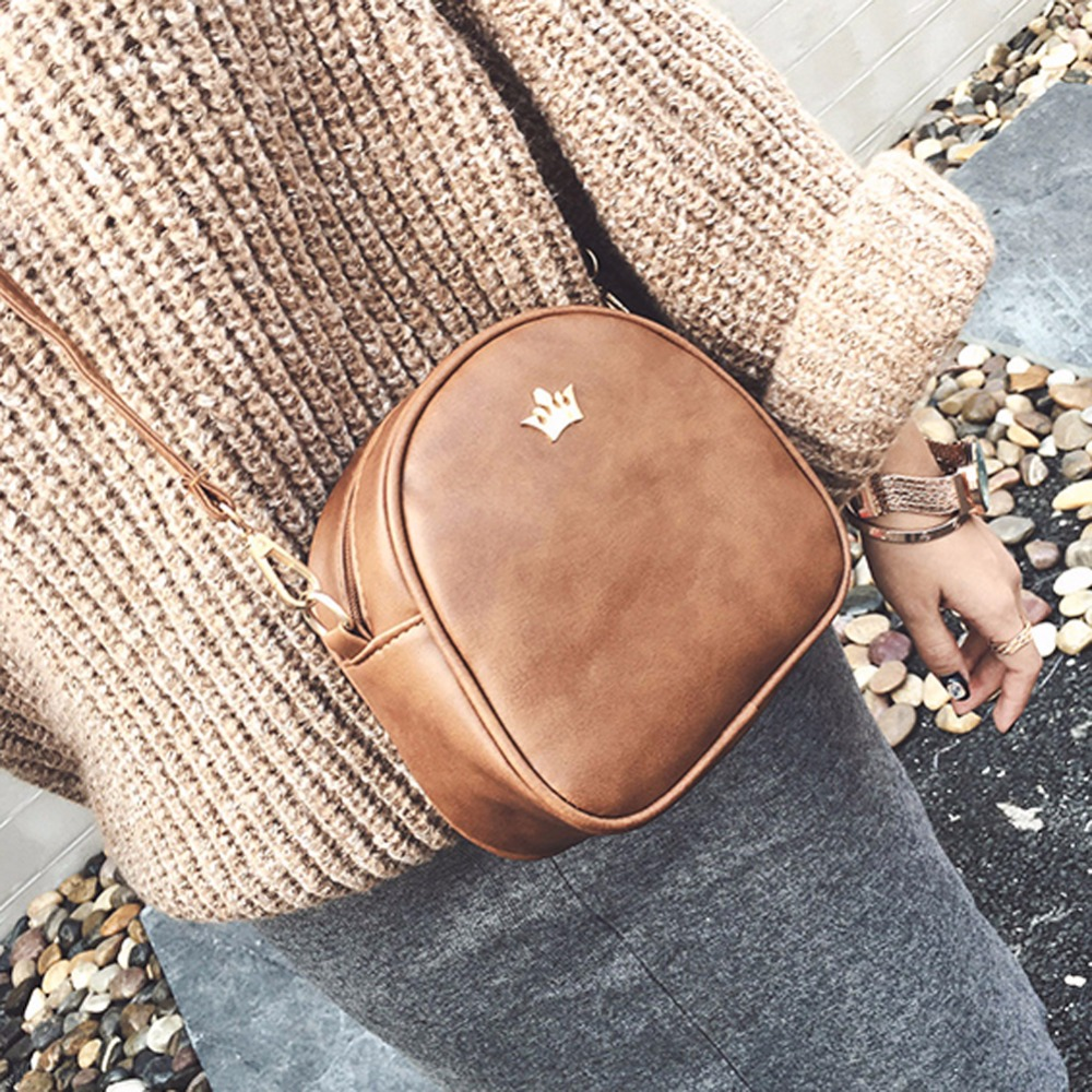New Fashion Designer Handbag Phone Purse Women Small Bag Imperial Crown Women Messenger Bag Shoulder Crossbody Bag PU Leather fashion women leather handbags imperial crown small shell bag women messenger bag ladies shoulder crossbody bag clutches bolsa