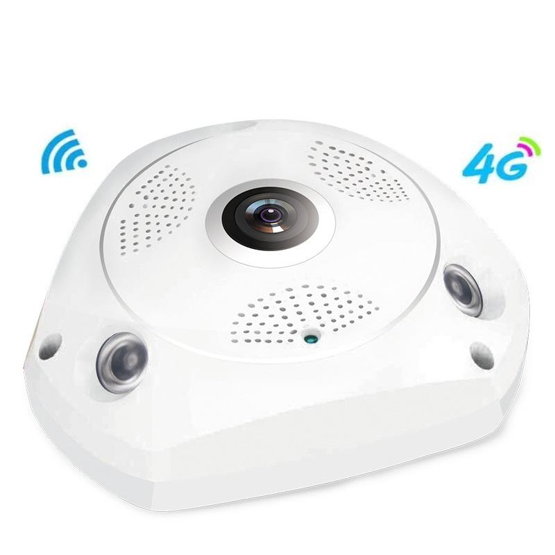 Camhi 4G WiFi 3.0MP HD surveillance network IP camera Onvif H.264 P2P security indoor 360 panoramic wide angle