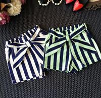 2016 New Summer Baby Girls Boy Kid Stripe Cotton Shorts Korean Children S Clothing Retail Wholesale