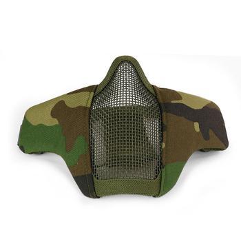 ActionUnion Tactical Airsoft półmaska maska ochronna siatka stalowa siatka oddychająca wojskowa Paintball polowanie CS Outdoor tanie i dobre opinie CN (pochodzenie) NYLON
