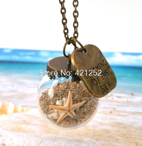 10pcs miniature beach globe sand starfish necklace tiny beach glass 10pcs miniature beach globe sand starfish necklace tiny beach glass jewelry vial mozeypictures Image collections