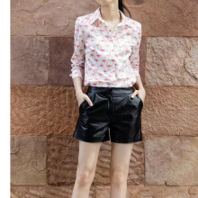 Nice Spring Autumn Women Blouses Animal Printed Shirts Long Sleeve Lapel Tops European Fashion Bluse Tops  HH0808