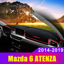 Car dashboard cover Mat Avoid light pad Instrument platform desk Carpets Trim For Mazda 6 ATENZA 2014 2015 2016 2017 2018 2019