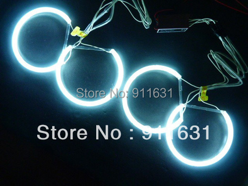 4 X Rings + 2 X Inverters CCFL Angel Eyes Halo Ring  For BMW E30 E32 E34 Headlight White Red Blue Color Free Shipping