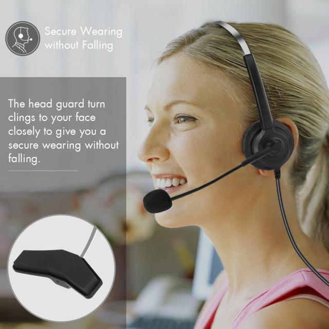 コールセンターヘッドセットマイク付き2.5/3.5ミリメートルプラグ電話音声インターホンヘッドホン用コンピュータpcゲームボリュームコントロール
