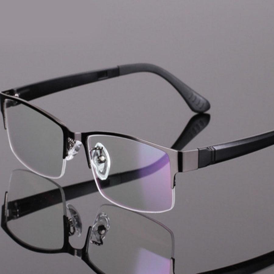 Half Framed Fashion Glasses : Men Eyeglasses Frame Women Fashion bril Metal half frame ...