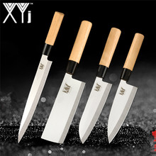 XYj Japanese Style Stainless Steel Knife Set 9 Slicing 6.5 Chef Santoku Chopping Sharp Blade Meat Fish Cooking Tools