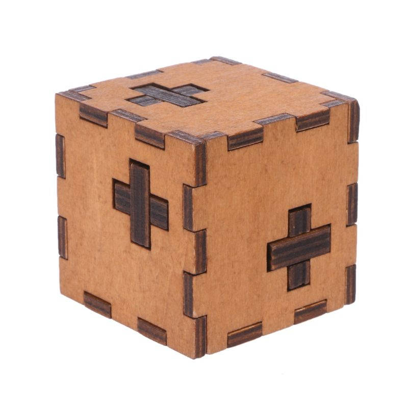 New Switzerland Cube Wooden Secret Puzzle Box Wood Toy Brain Teaser Toy For Kids Y51E