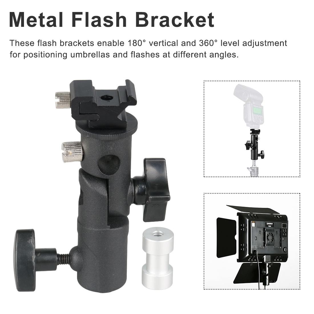 Metal Waterproof Bracket Universal Hot Shoe Flash Umbrella With Screw Installation Rotary Joint Light Stand