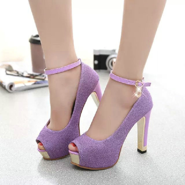 2018 New Brand Shining Platform Shoes Woman Super High Heels Sexy Party  Dress Ladies Pumps Comfortable Wedding Shoes With Pearl 54249d9a9923
