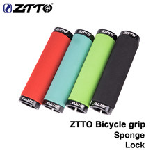 1Pair ZTTO sponge Durable Shock-Proof Anti-Slip Grips for MTB Mountain Bike Folding Bicycle Fixed Gear BMX with Bar Plug AG-36(China)