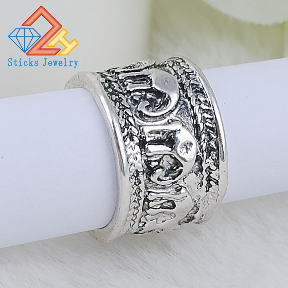 Vintage Silver Plated Rings For Women Fashion Jewelry Punk Lovely Ring Men Finger Access ...