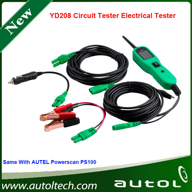 ФОТО New Arrived PowerScan Circuit Tester Autek YD208 Auto Electrical System Diagnostic Tool DHL Free Shipping