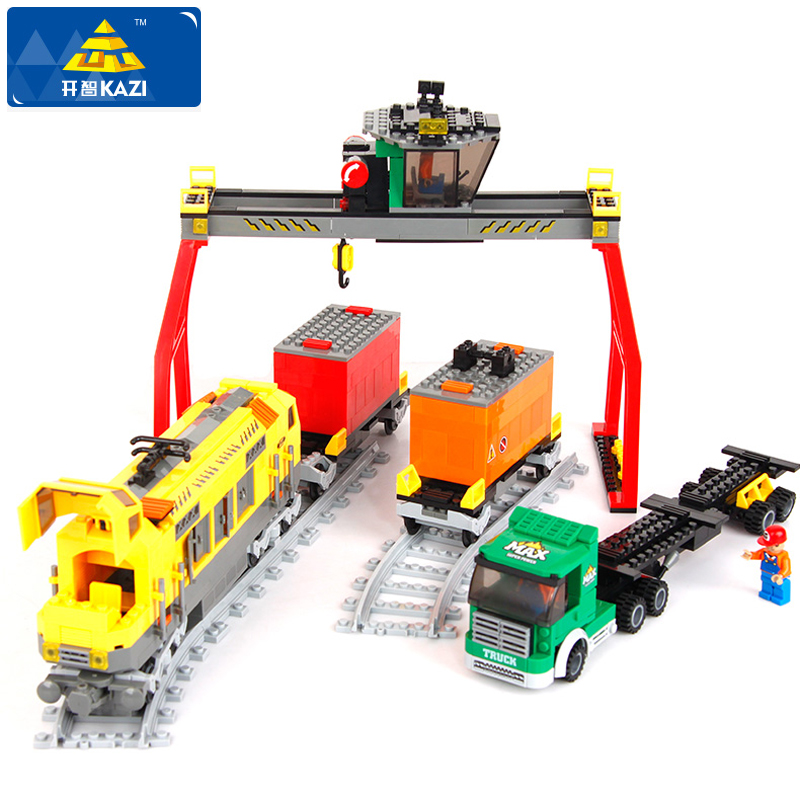 ФОТО 792pcs Super Large Train Truck Building Blocks train Truck/Railway/Crane Transport Education Bricks Juguetes Kids Christmas Gift