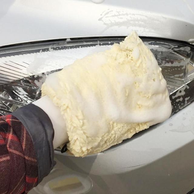EUA 1 Peça 27x16 centímetros Microfibra Detalhamento Suave Wash Mitten Luva de Lavagem Ferramentas da Limpeza Do Carro de Pelúcia