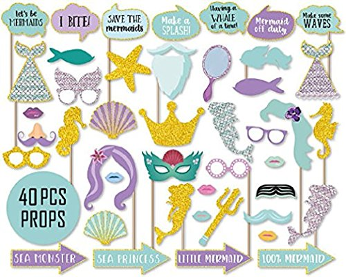 Mermaid Under The Sea Girl Birthday Party Photo Booth