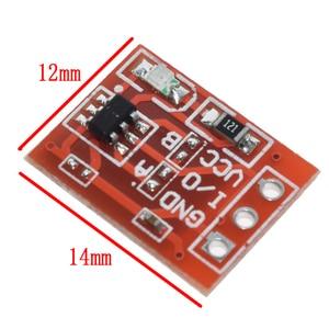 10 шт. TTP223 сенсорный ключ переключатель модуль сенсорная кнопка самоблокирующийся/без блокировки емкостные переключатели одноканальная ре...