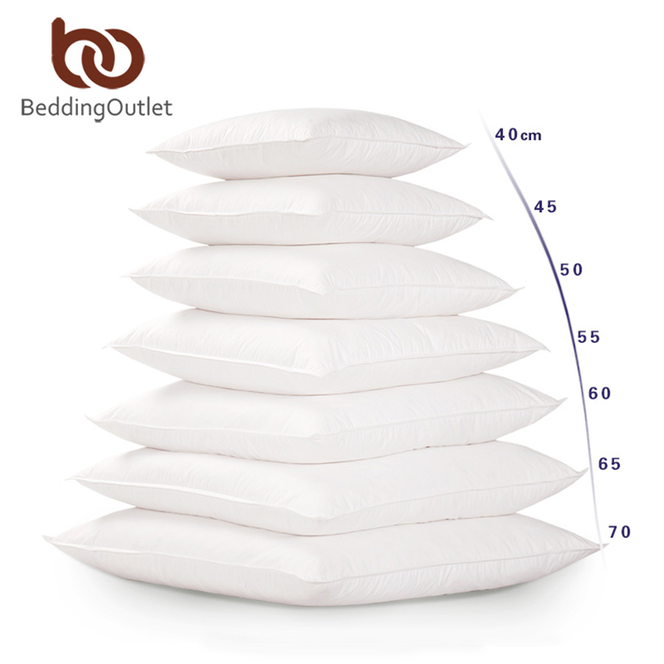 BeddingOutlet White Cushion Insert For Car Sofa Down Alternative Throw Pillow Core Inner Seat Cushion Filling 40-70cm Drop Ship(China)