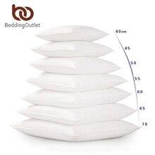 Постельные принадлежности Outlet Белая Подушка вставка для автомобиля диван вниз Альтернативная подушка ядро внутреннее сиденье подушка наполнение 40-70 см Прямая поставка