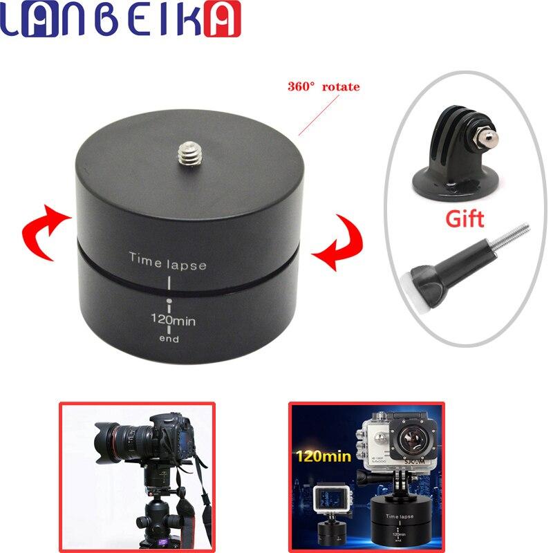 LANBEIKA 360 Gradi 120 Min Panning Rotazione Deriva Stabilizzatore Lasso di Tempo Uovo Timer Per Gopro Hero 6 5 4 3 + SJCAM SJ6 SJ7 SJ4000