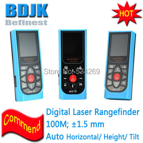 цена 100M with 1.5mm Accuracy Professional Digital Distance Meter Laser Rangefinder IP54 Proof