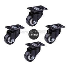 Небольшой размер 1.5 дюймов нагрузки 40 КГ/ШТ. PU ролики немой колесо для Диван, мебель, тележки, главная/промышленные колеса KF1080