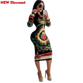 Dashiki African Dresses For Women 2018 Elastic Plus Size Bodycon Dress Ladies Traditional African Print Clothing Dresses Woman
