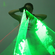 Free Shipping LED Laser Gloves green/red color swirl laser man gloves show with 2  Rotating Vortex