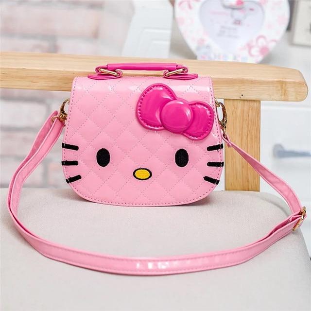 e3852a0590f3 New cute mini bag children hello kitty handbag for women cartoon cat PU  waterproof should bag kids girls fashion messenger bags
