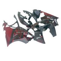 ABS Bodywork kit for Kawasaki ZX7R zx 7r 1996 2003 Ninja Red Flames 2001 01 2002 02 2003 03 fairing kit xl34