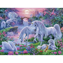 5D DIY Diamond Painting Handicraft Cross Stitch Unicorns GardenFull Square Embroidery sale of pictures christmas Z52