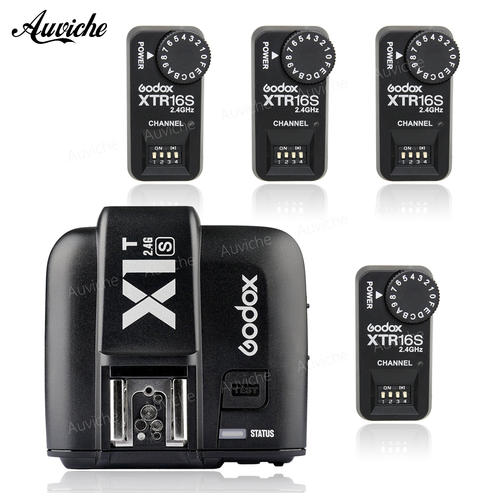купить Godox X1T-S 2.4G TTL 1/8000s Wireless Trigger + XTR-16S 2.4G Receivers Set For Sony Cameras for Godox flash V860 V850 по цене 3739.86 рублей