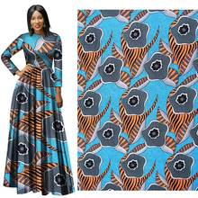 Spring 2019 New Full Polyester Printed Cloth with Thick Pattern 112-114 Width  sewing fabric african wax yako