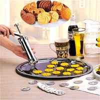TTLIFE Cookie Press Gun 20 fleur moule 4 monté fleur moules Biscuit Cutter bricolage gâteau Cookie Maker cuisson pâtisserie outils Cortador