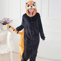 Dinosaur Unicorn Stitch Giraffe Unisex Flannel Pajamas Adults Cosplay Cartoon Animal Onesies Sleepwear Hoodie Women Men