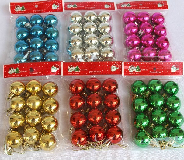 24 pcs/lot 3cm Mix color Wedding Decorative Shinning Ball,Christmas Decor Home Ornament Home Decoration #03