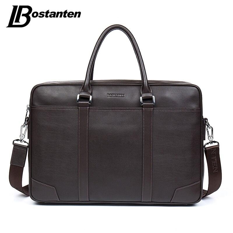 Bostanten корова Пояса из натуральной кожи сумка Бизнес Для мужчин сумки для ноутбука Tote Мужские Портфели Crossbody сумки на ремне сумки Для мужчин с