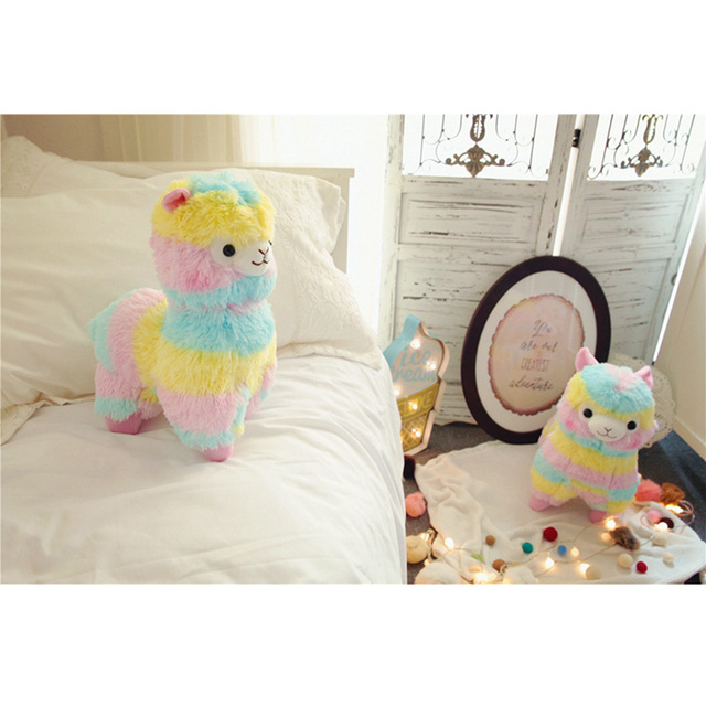 rainbow alpaca stuffed animal