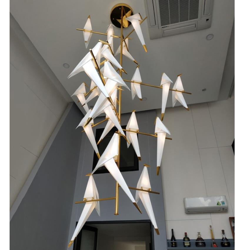 Lustre Led Modern Bird LED Pendant Lights  Bedroom Living Room Hanging Lamp Pendant Lighting Decor Home Luminaire Suspendu