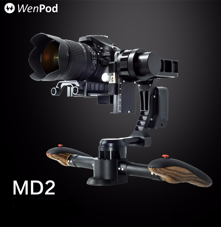 Original Wenpod MD2 black brushless handheld 3-axis gimbal compatible with most popular DSLR cameras F19364 yuneec q500 typhoon quadcopter handheld cgo steadygrip gimbal black
