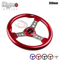 DYNO RACING -Freeshipping  ABS classic  14inch universal Aluminum Frame  6-Hole steering wheel Cover