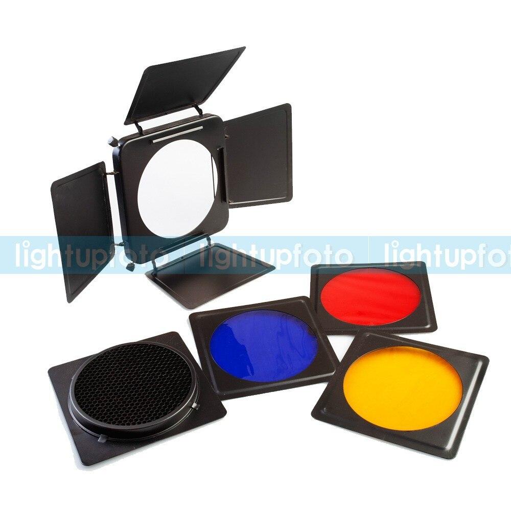 Light Barn Door Honeycomb Grid Gel Kit 17cm Photo Studio Studio