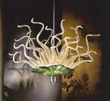 Hot Sale Chihuly Handmade Blown Glass Pipes and plates Chandelier Light Fixture -LR279 printio fish and pipes