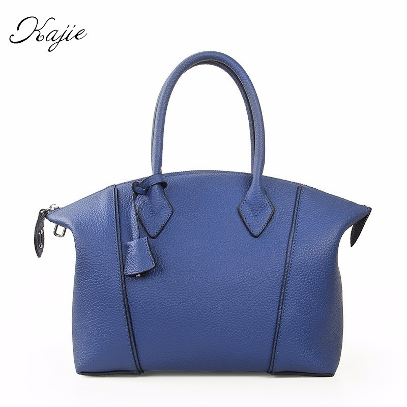 Kajie Brand Designer Hobos Luxury Handbags Women Genuine Leather Cowhide Tote Fashion Ladies Shoulder Bags Crossbody Bag new american luxury style 100% oil genuine leather women composite shoulder bag brand designer cowhide handbags tote li 1358