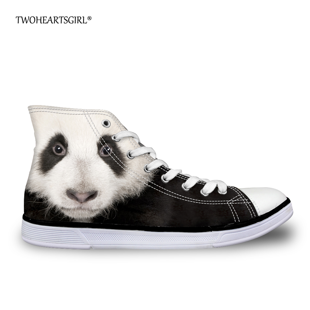 Twoheartsgirl Kawaii Impression Animal Panda Chat Haut Top Toile - Chaussures pour femmes