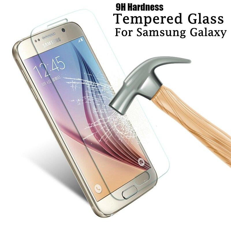 2.5D 9 שעתי מזג זכוכית עבור Samsung Galaxy J3 J5 J7 2015 2016 J310 J510 J710 J320 J520 J720 S4 s5 S6 S7 מסך מגן סרט HD