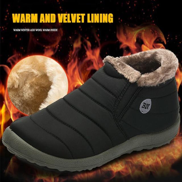 2018 зимние меховые непромокаемые зимние сапоги для пар, сохраняющие тепло Нескользящие беговые кроссовки для мужчин и женщин, спортивные Zapatos Corrientes