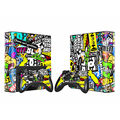 Vinyl Decal Skin Sticker for Microsoft Xbox 360 E slim and 2 controller skins stickerbomb  for x box 360 SLIM E